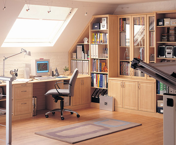 Fitted Home Office with Skylight