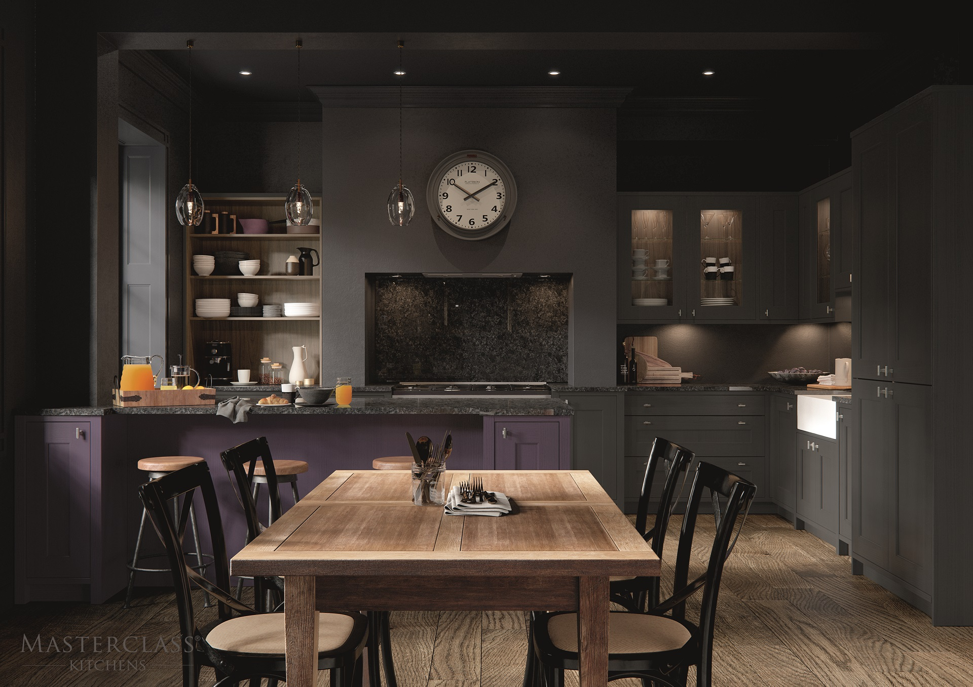 Luxury Kitchens - ASHBOURNE MAIN MULBERRY GRAPHITE