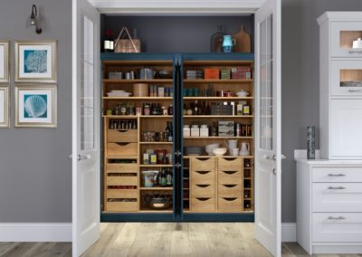 Ashbourne double Portland Oak pantry luxury classic designer kitchen