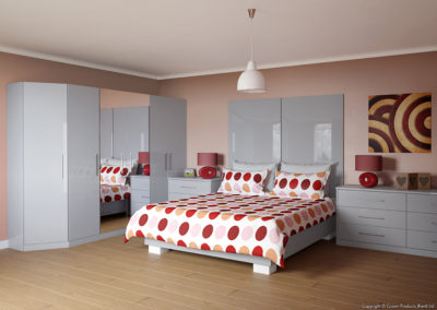 CROWN Furore GreyLight Fitted Bedroom