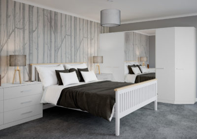 CROWN Locano Touch StoneGrey_White Fitted Bedroom