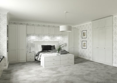 CROWN Midsomer LightGrey B Fitted Bedroom