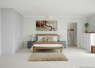 CROWN Midsomer PaleGrey_Graphite_White Fitted Bedroom