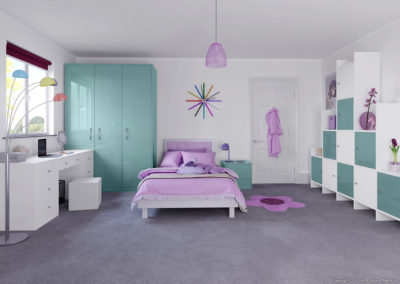 CROWN Rialto MetallicOxygen_White Fitted Bedroom