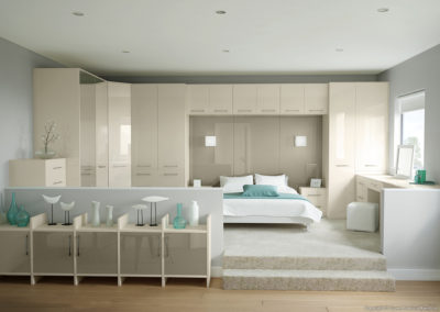 CROWN Rialto Oyster_Titanium 1 Fitted Bedroom