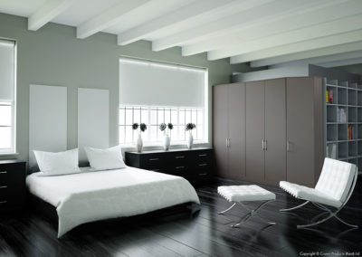 CROWN Rococo Black_PaleGrey Fitted Bedroom