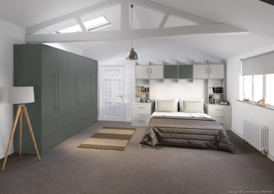 CROWN Rococo MidGrey_LightGrey Fitted Bedroom