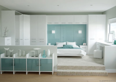 CROWN Rococo White_Rialto Oxygen 1 Fitted Bedroom