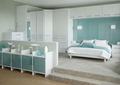 CROWN Rococo White_Rialto Oxygen 2 Fitted Bedroom
