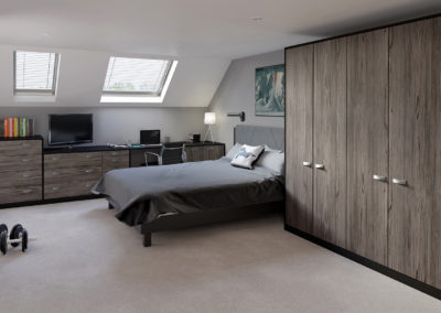 CROWN Textura Fleetwood_Rialto Black Fitted Bedroom