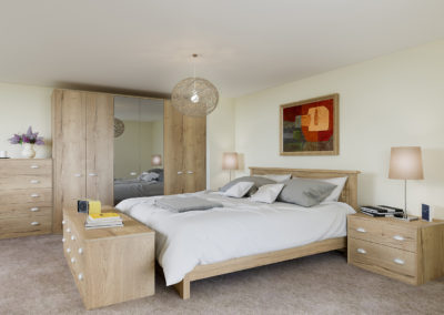 CROWN Textura Halifax Oak Fitted Bedroom