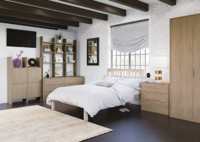 CROWN Textura SandOak Fitted Bedroom