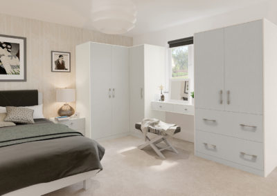CROWN Textura White_LightGrey Fitted Bedroom