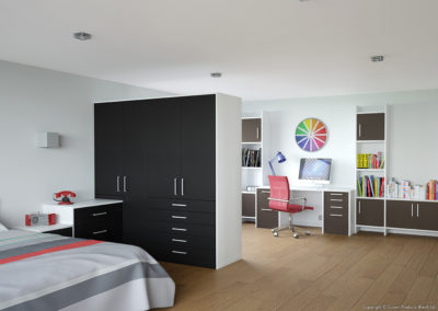CROWN Zeluso Black_GreyDark Fitted Bedroom