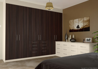 CROWN Zeluso EbonyDark_Oyster Fitted Bedroom