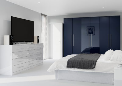 CROWN Zeluso Midnight Blue_Furore GreySilk Fitted Bedroom