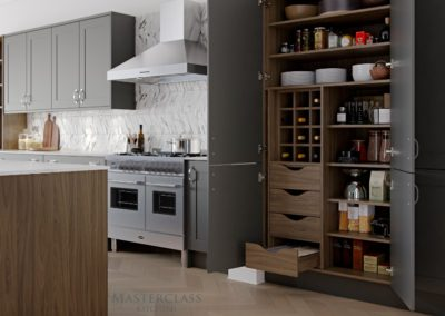 Chatsworth-Graphite-Pantry Luxury Designer Shaker Kitchen