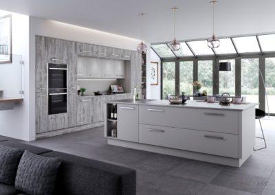 Deco Tundra Stone with Sutton Light Grey copy luxury modern designer kitchen