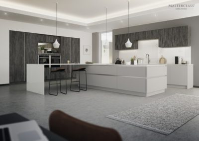 H-Line-Deco Twilight with Sutton Dust Grey copy luxury designer handleless h line kitchen