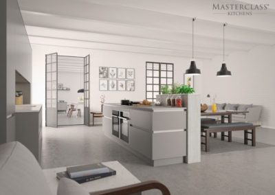 H-Line-Sutton Dust Grey (2) copy luxury designer handleless h line kitchen
