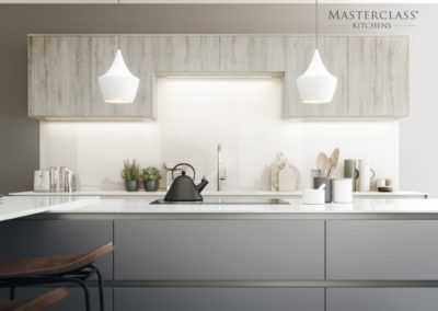 H-Line-Sutton Dust Grey with Madoc Border Oak (2) copy luxury designer handleless h line kitchen