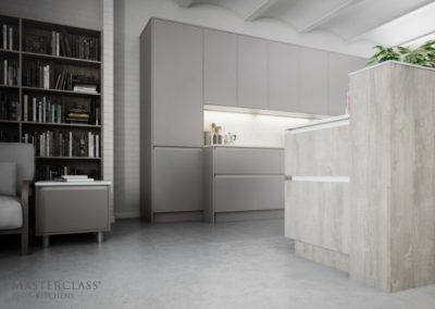 H-Line-Sutton Dust Grey with Madoc CHalkwood copy luxury designer handleless h line kitchen