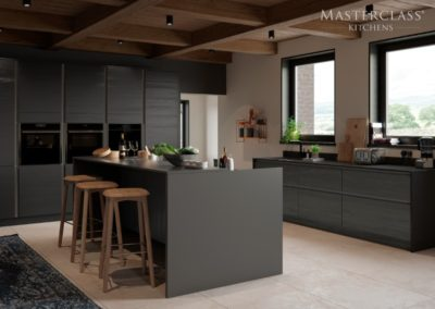 H-line-larna-graphite-main luxury designer handleless h line kitchen