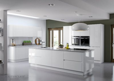 Italia-White luxury modern designer kitchen