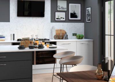 Larna-light-grey-graphite-madoc-tuscan-walnut-cameo-1 luxury modern designer kitchen