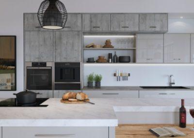Lumina Light Grey with Madoc Manhattan copy luxury modern designer kitchen