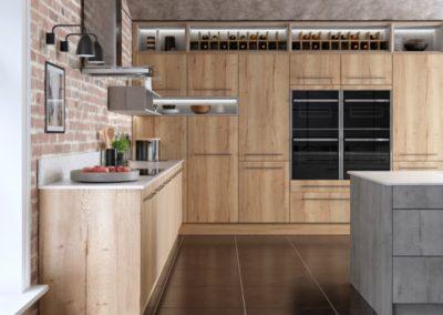 Madoc Mayfield Oak with Manhattan copy luxury modern designer kitchen