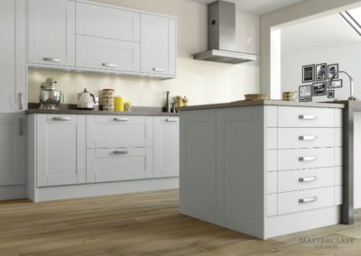 Maine-LightGrey Luxury Designer Shaker Kitchen