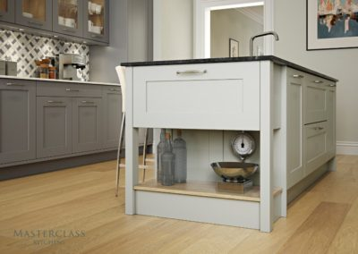 Marlborough-Chefs-Table-LightGrey Luxury Designer Shaker Kitchen