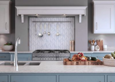 Marlborough Coasal Mist with White 2 copy Luxury Designer Shaker Kitchen