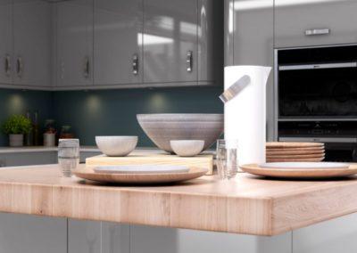 Nevada Light Grey copy luxury modern designer kitchen