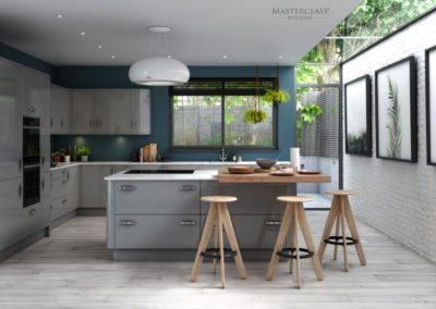 Nevada Light Grey with Heritage Grey copy luxury modern designer kitchen