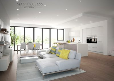 Reno-White-StoneGrey-OpenGrained-Main luxury modern designer kitchen