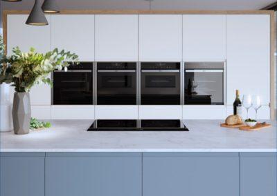 Roma Coastal Mist with White copy luxury modern designer kitchen