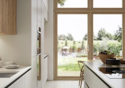 SUTTON_H-LINE_CAMEO_A_SCOTS_GREY_PORTLAND_OAK_&_CHALKWOOD luxury designer handleless h line kitchen