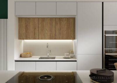 SUTTON_H-LINE_CAMEO_B_SCOTS_GREY_PORTLAND_OAK_&_CHALKWOOD luxury designer handleless h line kitchen