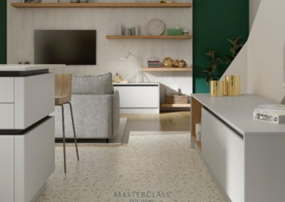 SUTTON_H-LINE_CAMEO_E_SCOTS_GREY_PORTLAND_OAK_&_CHALKWOOD luxury designer handleless h line kitchen
