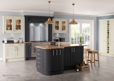 Sherborne Graphite and Ivory HI_RES Luxury Designer Shaker Kitchen