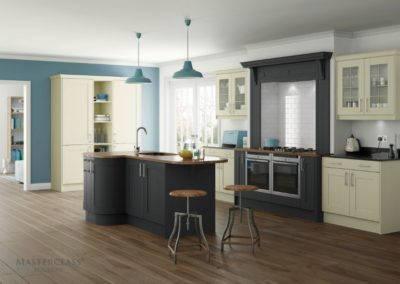 Sherborne-Ivory-Graphite Luxury Designer Shaker Kitchen