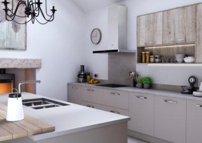 Sutton Dust Grey with Madoc Border Oak 2 copy luxury modern designer kitchen