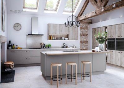 Sutton Dust Grey with Madoc Border Oak copy luxury modern designer kitchen