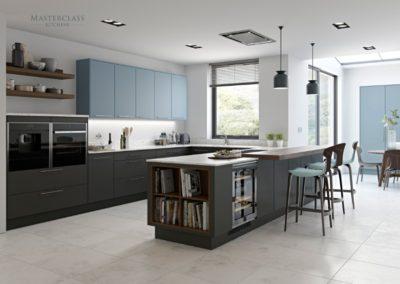 Sutton-Graphite-CoastalMist luxury modern designer kitchen