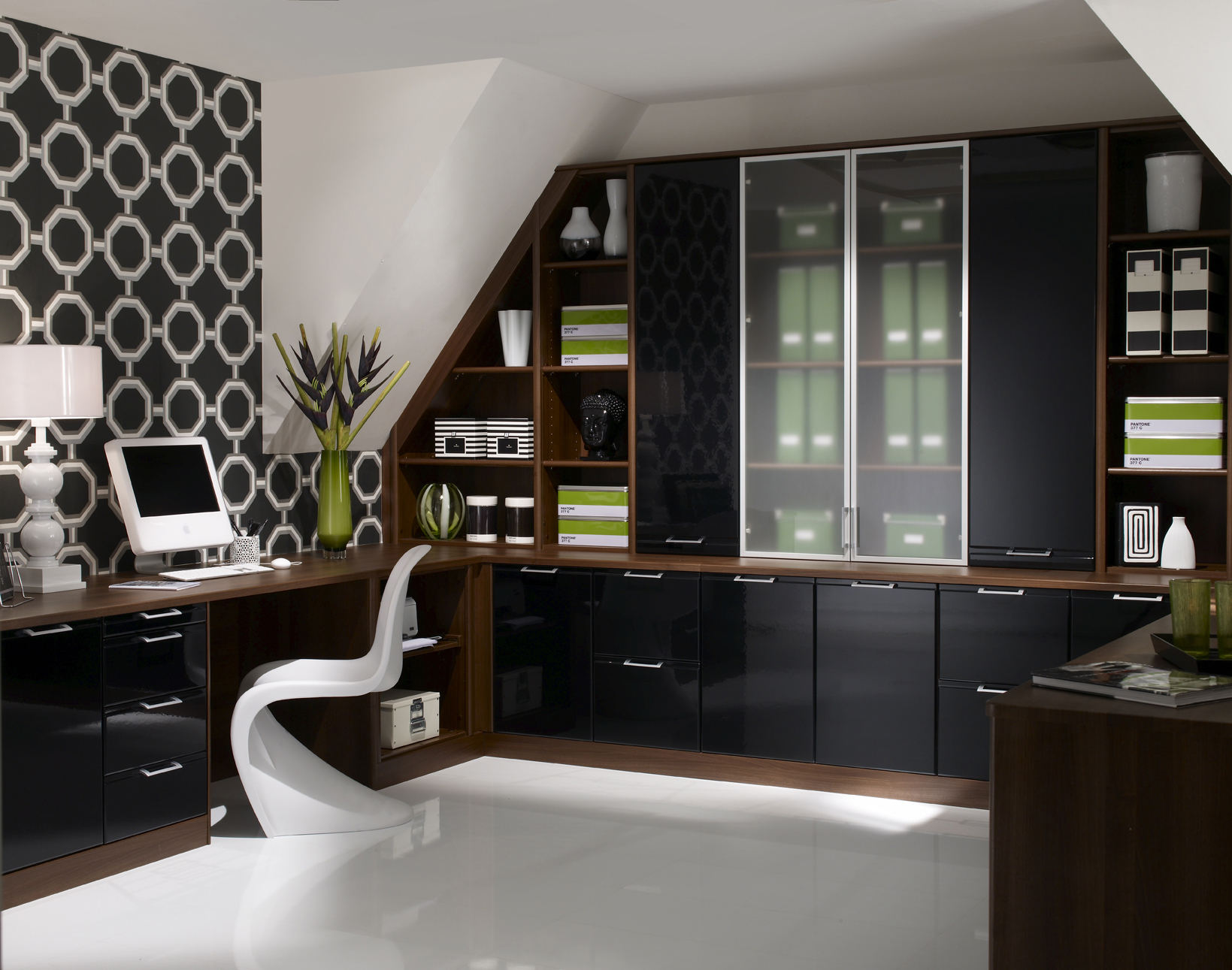 Designer Walnut Liquorice 2 Office