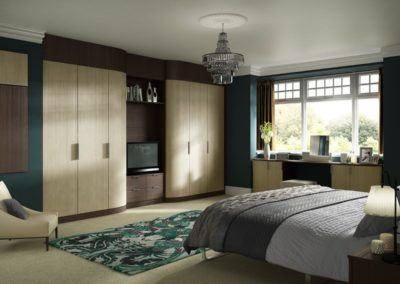 Moda Curved DarkPine LightPine 1 1 Bedroom