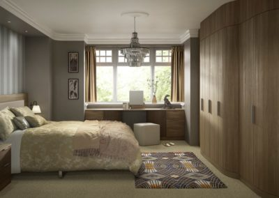 Moda Curved MidWalnut DarkPine 1 Bedroom