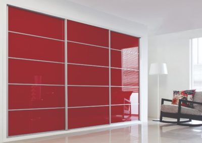 Sliding Wardrobe Pomegranate Glass 5 Bedroom